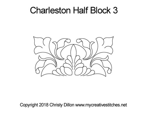 Charleston half block 3 quilt pattern