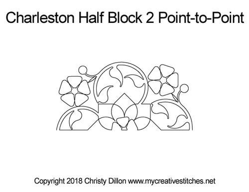 Charleston half block quilt pattern