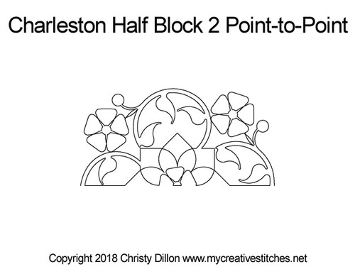 Charleston half block quilt pattern