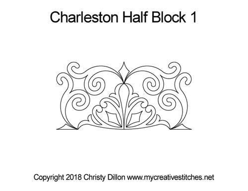 Charleston half block 1 quilting pattern