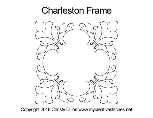 Charleston digitized frame design