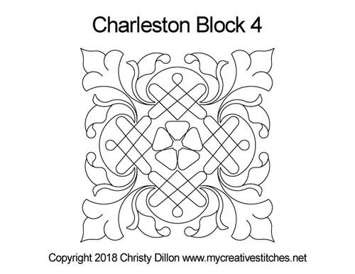Charleston block quilt pattern