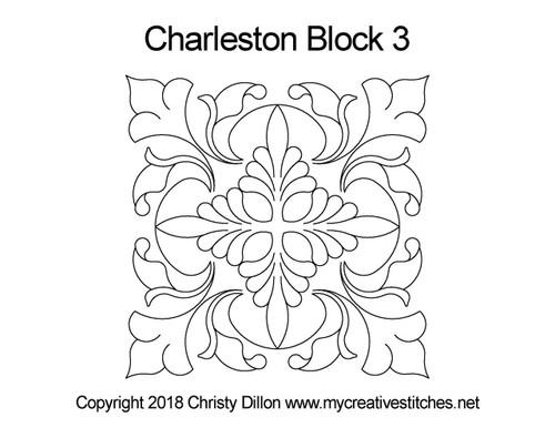 Charleston square block quilt pattern