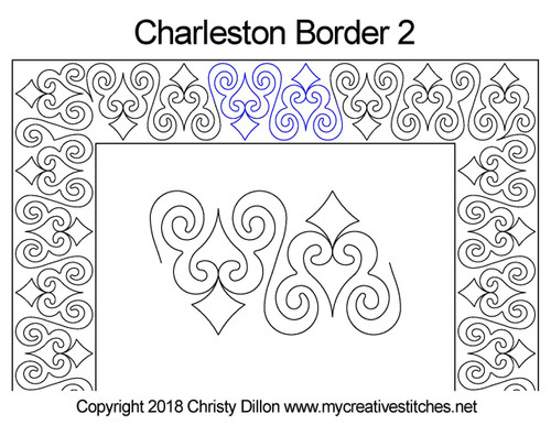 Charleston border 2 quilting pattern