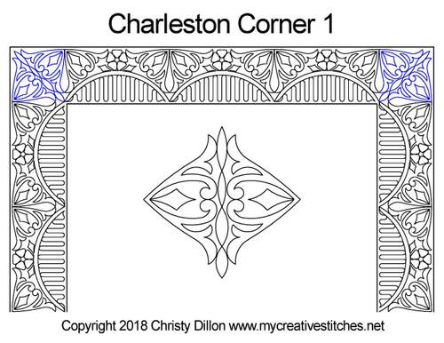 Charleston corner 1 quilt pattern