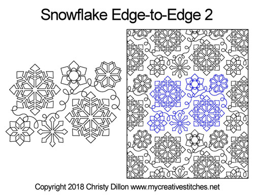 Snowflake edge to edge 2 designs