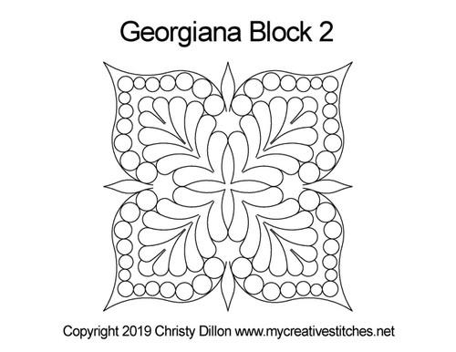Georgiana triangle block 2 quilt design