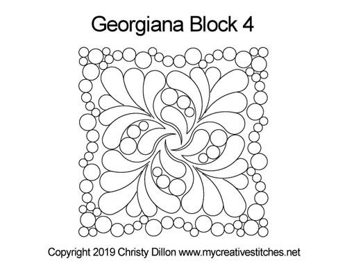 Georgiana quilting design for block 4