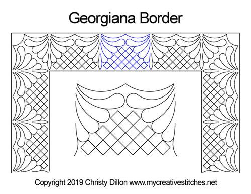 Georgiana border quilting