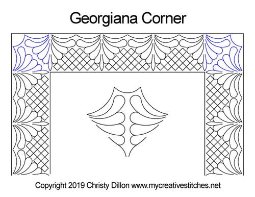 Georgiana corner quilting design