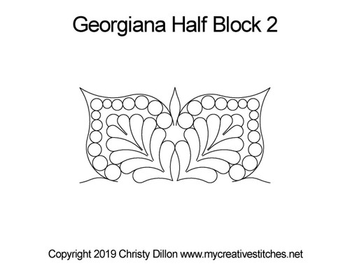 Georgiana half block 2 digital quilting pattern