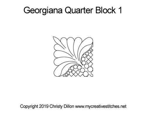 Georgiana quarter block 1 quilting patterns