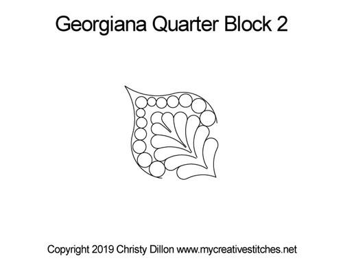 Georgiana quarter block 2 quilting patterns