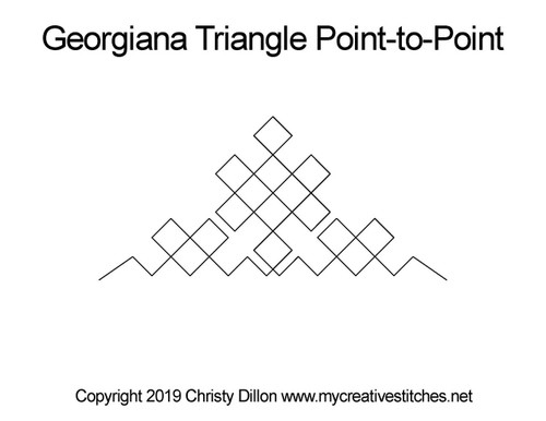 Georgiana triangle p2p quilt pattern