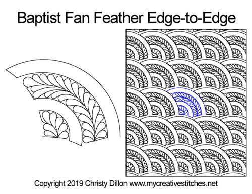 Baptist Fan Feather Edge-to-Edge