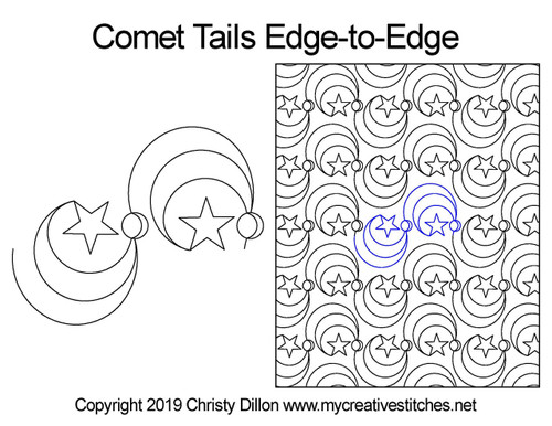 Comet trails edge to edge quilt patterns