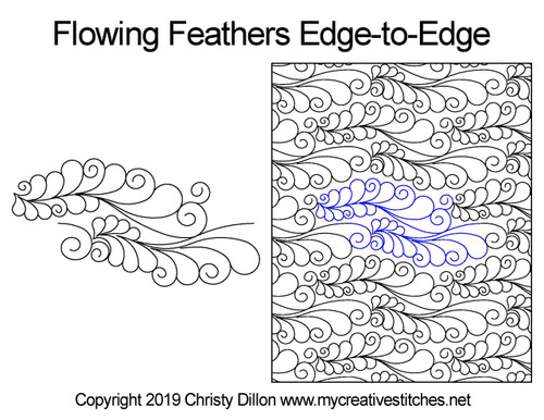 Flowing feathers edge to edge designs