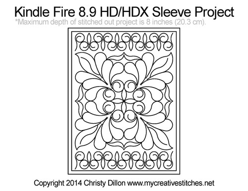 Kindle Fire 8.9 HD and HDX Quilted Sleeve Project