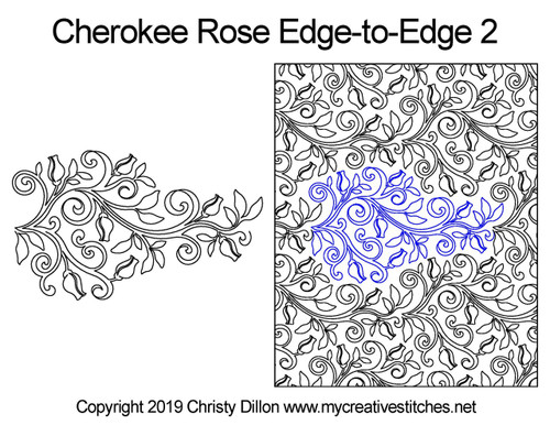 Cherokee rose edge to edge quilt designs