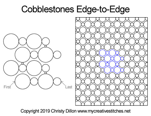 Cobblestones edge to edge quilt patterns