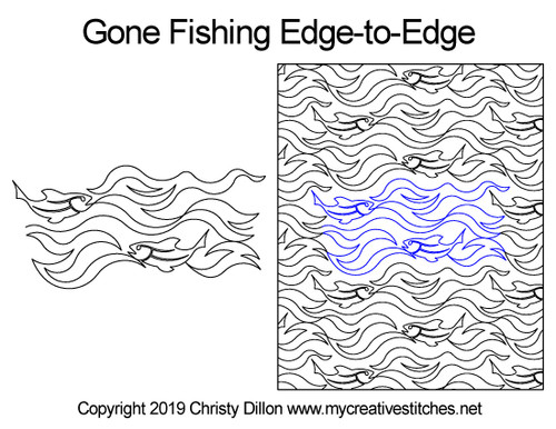 Gone fishing edge to edge quilt patterns