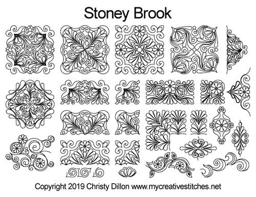 stoney brook quilting patterns free