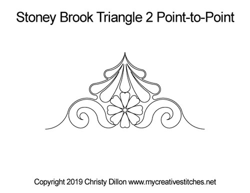 Stoney brook triangle 2 p2p quilt pattern