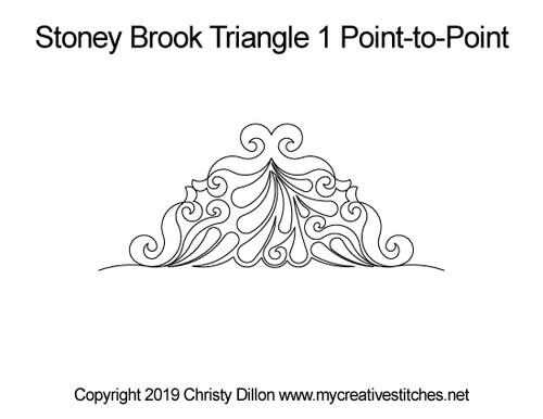 Stoney brook triangle 1 p2p quilt pattern