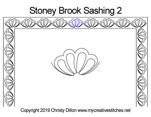 Stoney brook sashing 2 quilting pattern