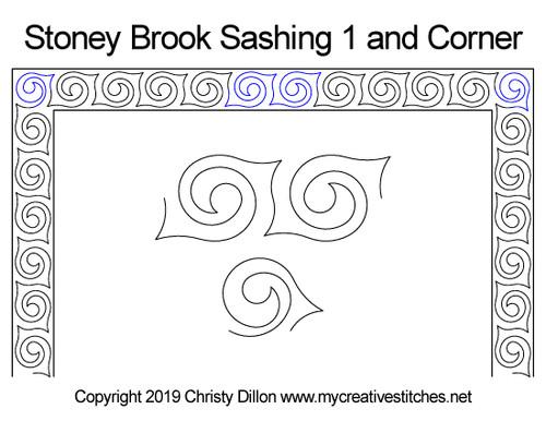 Stoney brook sashing & corner quilt design
