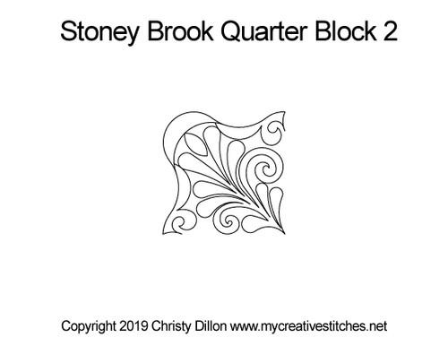 Stoney brook quarter block quilting pattern