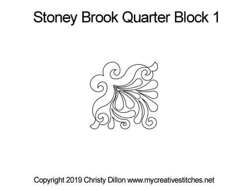 Stoney brook quarter block pattern