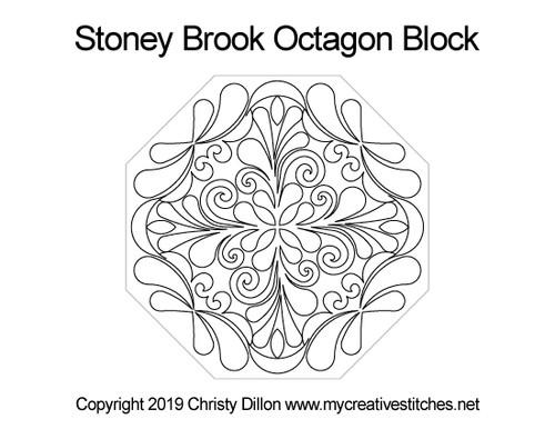 Stoney brook octagon block quilt design