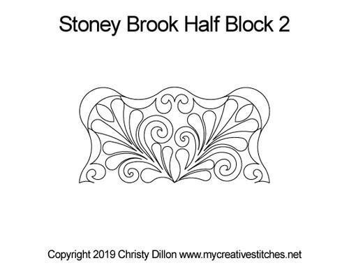 Stoney brook half block 2 quilting designs
