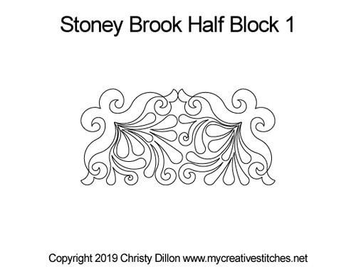 Stoney brook half block 1 quilting designs