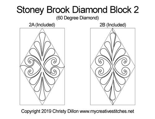 Stoney brook diamond block quilt patterns