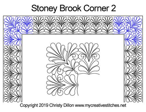 Stoney brook corner 2 quilting patterns