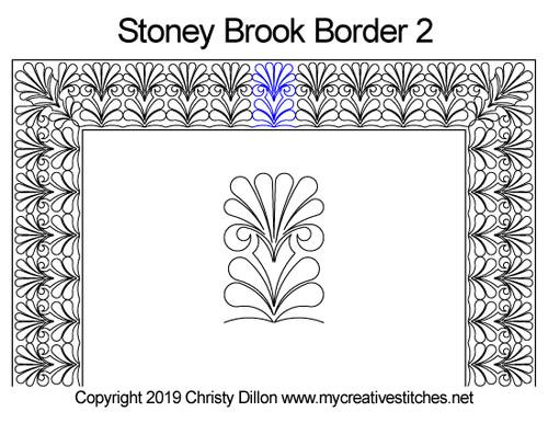 Stoney brook border 2 quilt design