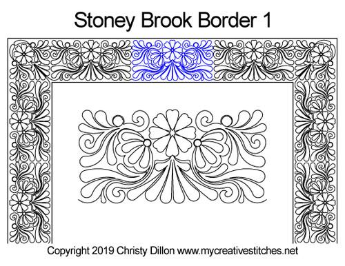Stoney brook border 1 quilting designs