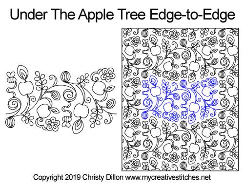 Under the apple tree edge to edge designs