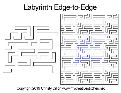 Labyrinth e2e quilting patterns