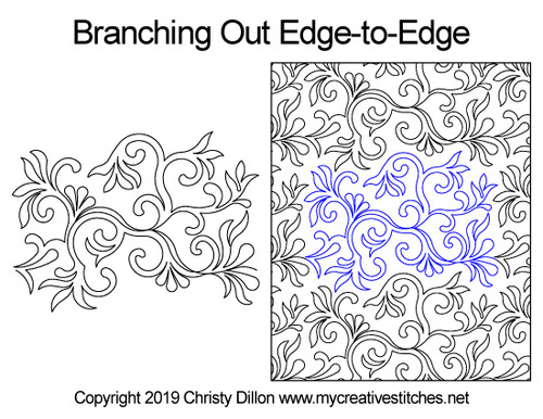 Branching out edge to edge quilt designs