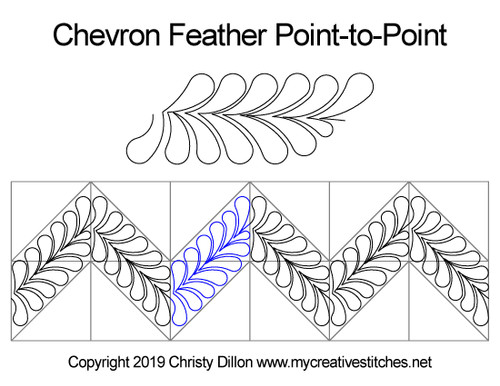 Chevron Feather Edge-to-Edge or Point-to-Point