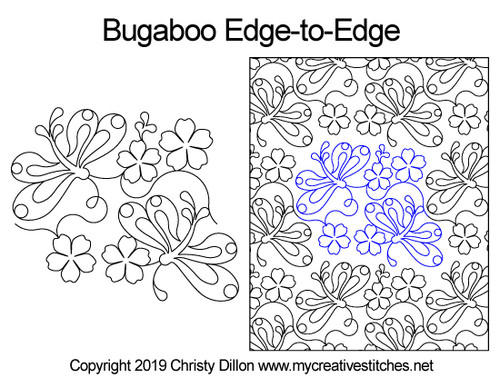 Bugaboo edge to edge digital quilting patterns
