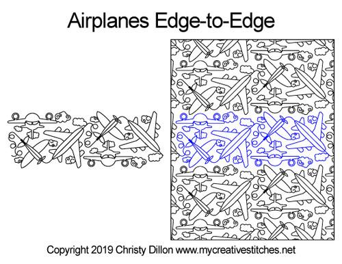 Airplanes Edge-to-Edge