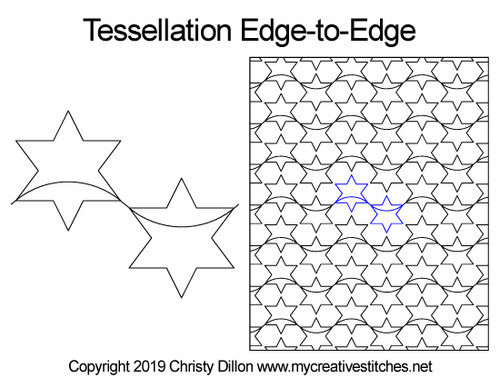 Tessellation edge-to-edge quilt design
