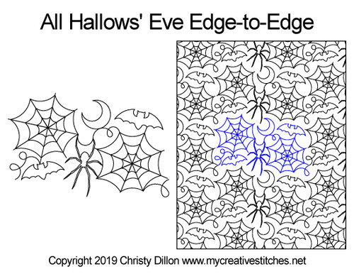 All hallows eve edge to edge quilt ideas