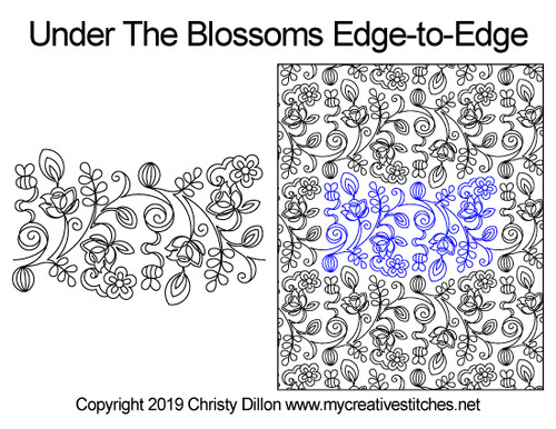 Under the apple blossom edge to edge designs