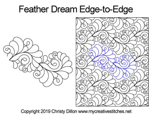 Feather Dream Edge-to-Edge