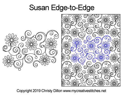 Susan edge to edge quilting pattern